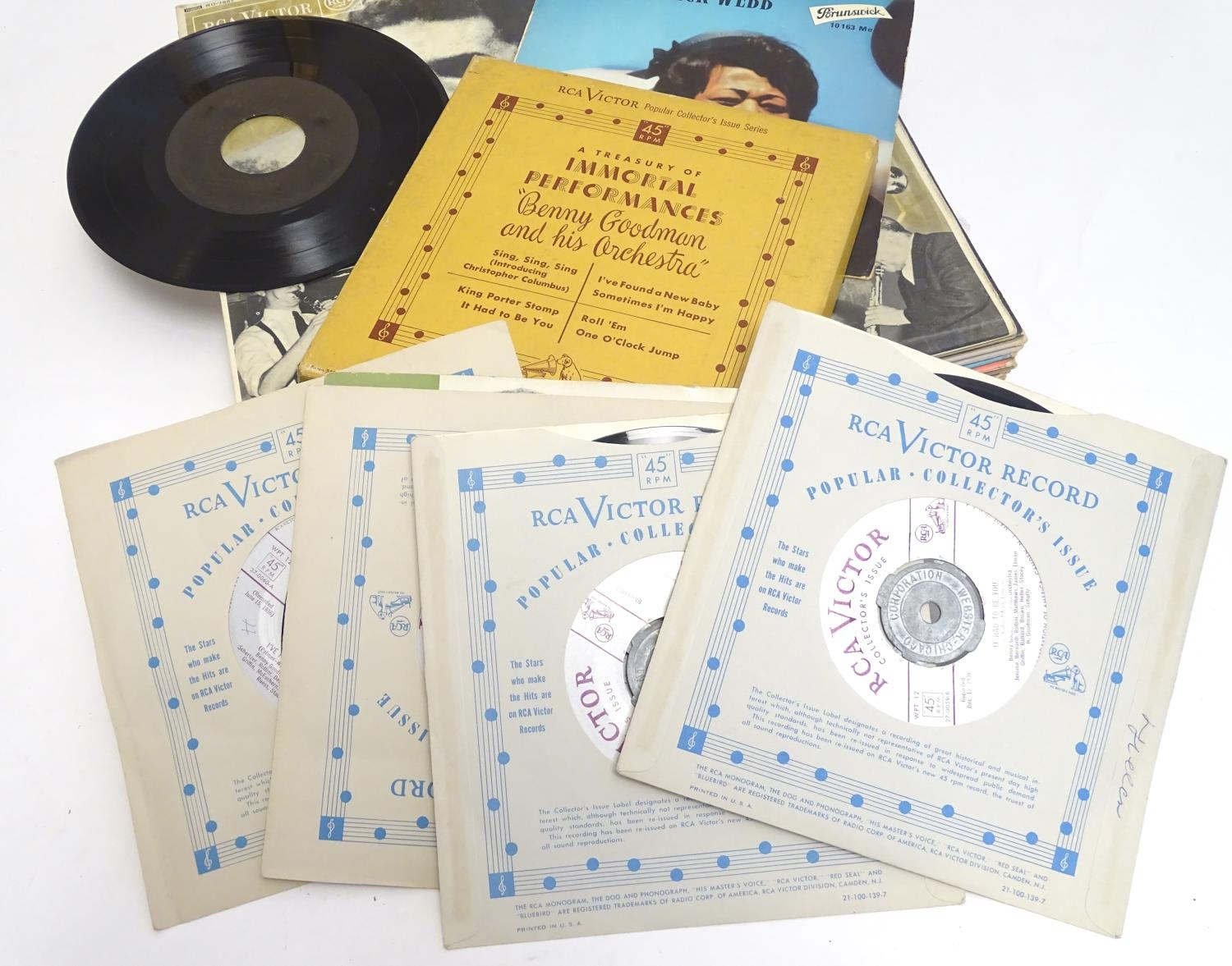 A collection of 20thC 33 rpm Vinyl records / LPs, - Jazz, comprising: The Panassie Sessions, In a - Image 3 of 11