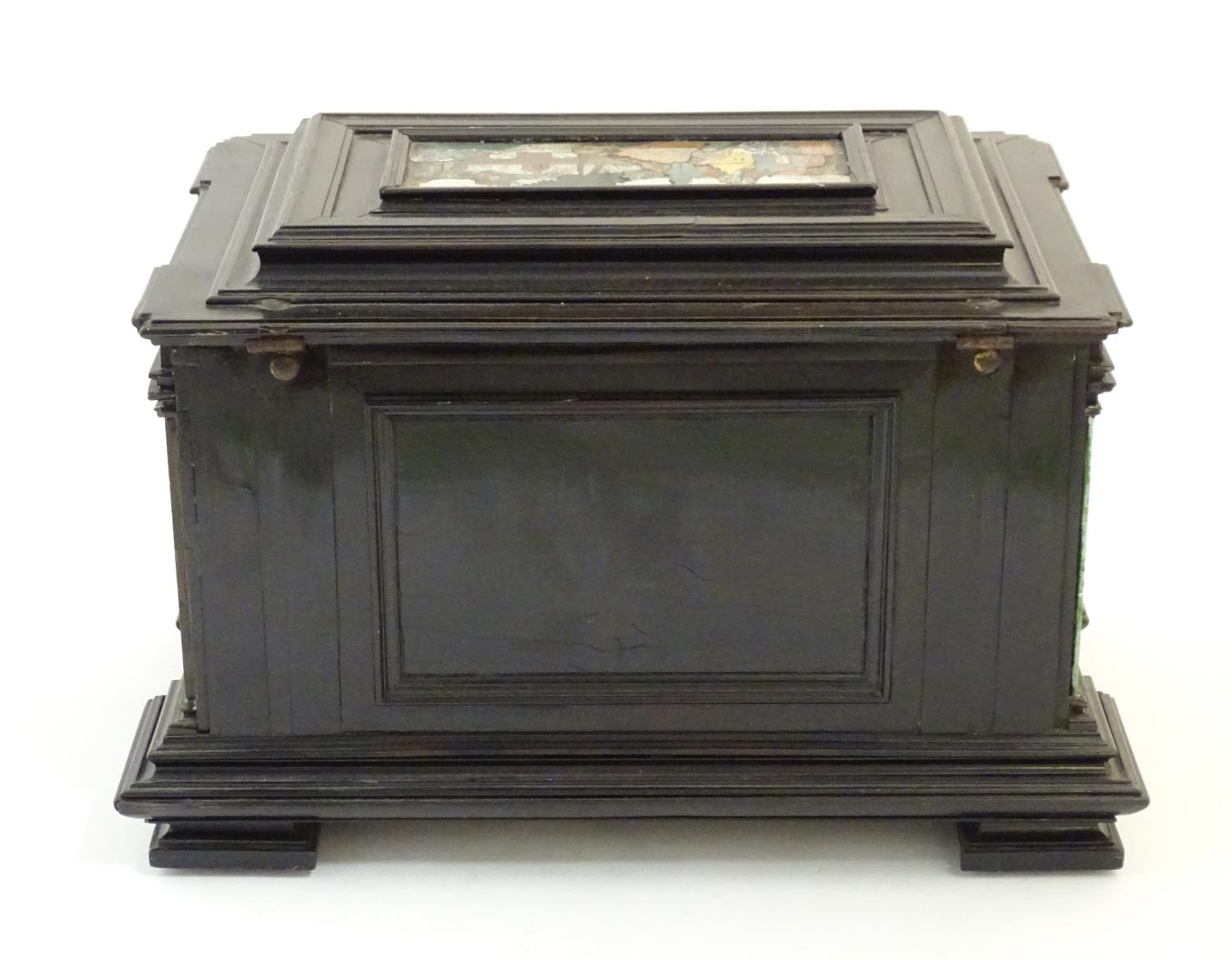 A 19thC Italian Grand Tour table cabinet / casket box of exceptionally large form with specimen - Image 12 of 58