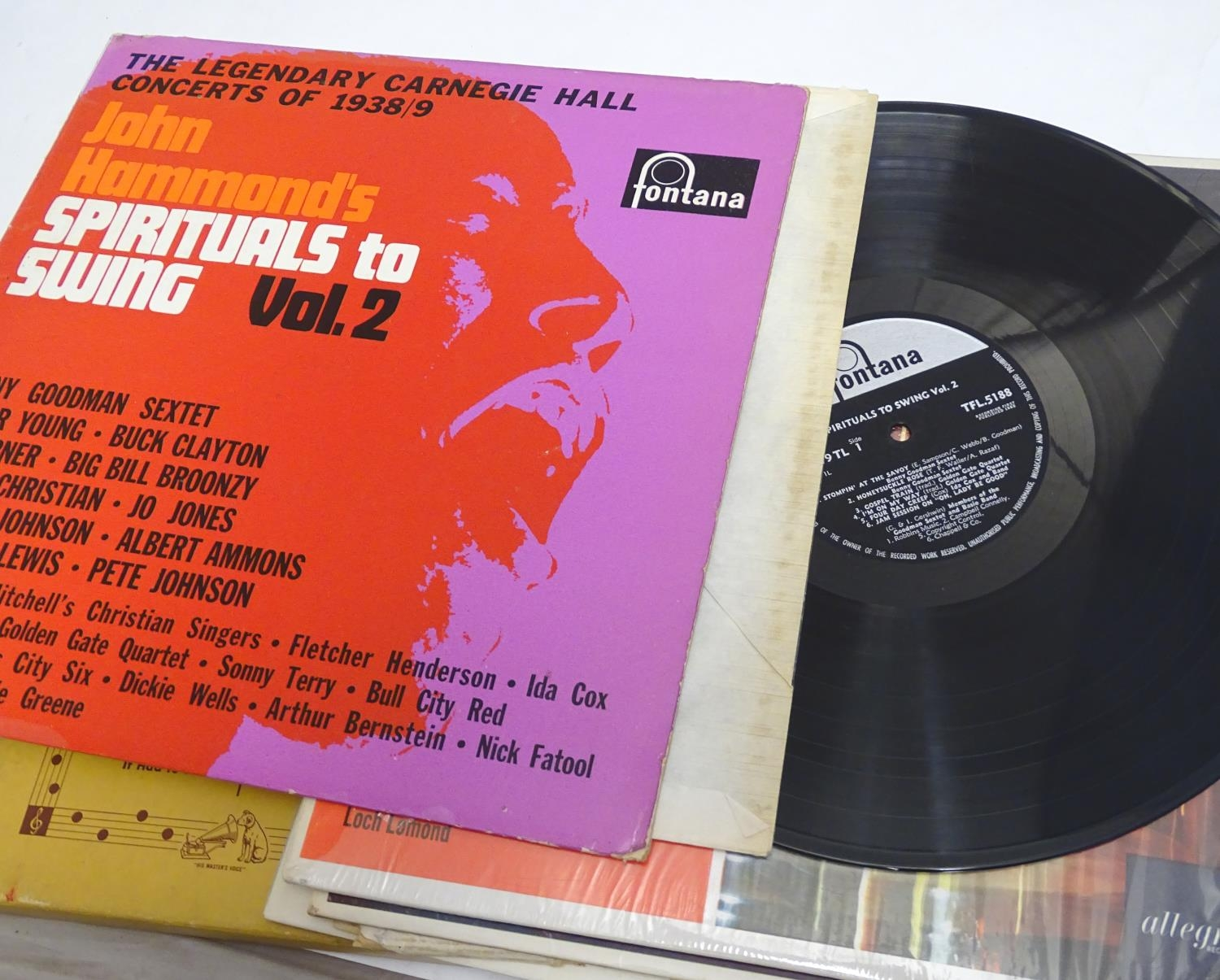 A collection of 20thC 33 rpm Vinyl records / LPs, - Jazz, comprising: The Panassie Sessions, In a - Image 9 of 11