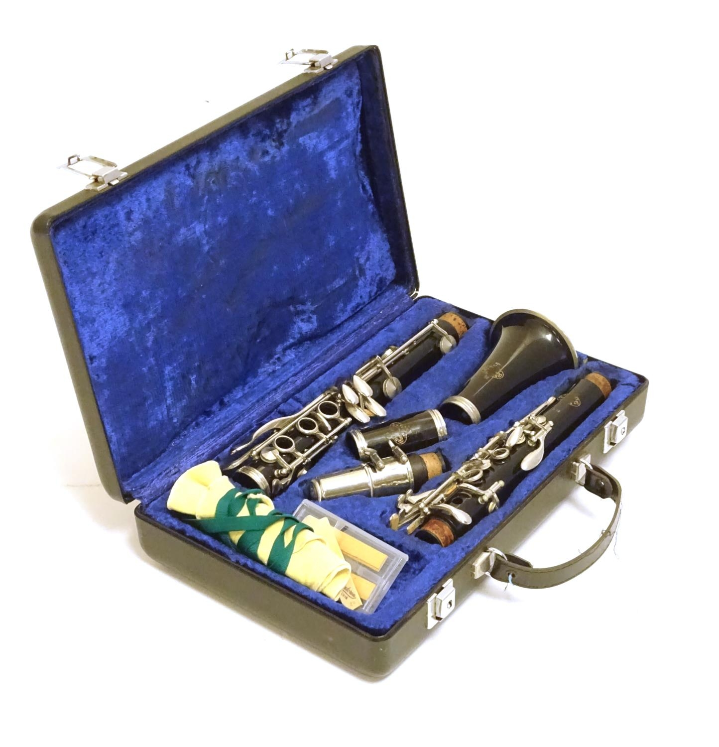 A mid to late 20thC Bb Clarinet by Buffet Crampon, Paris, model B12, stamped with maker's emblem and - Image 10 of 10