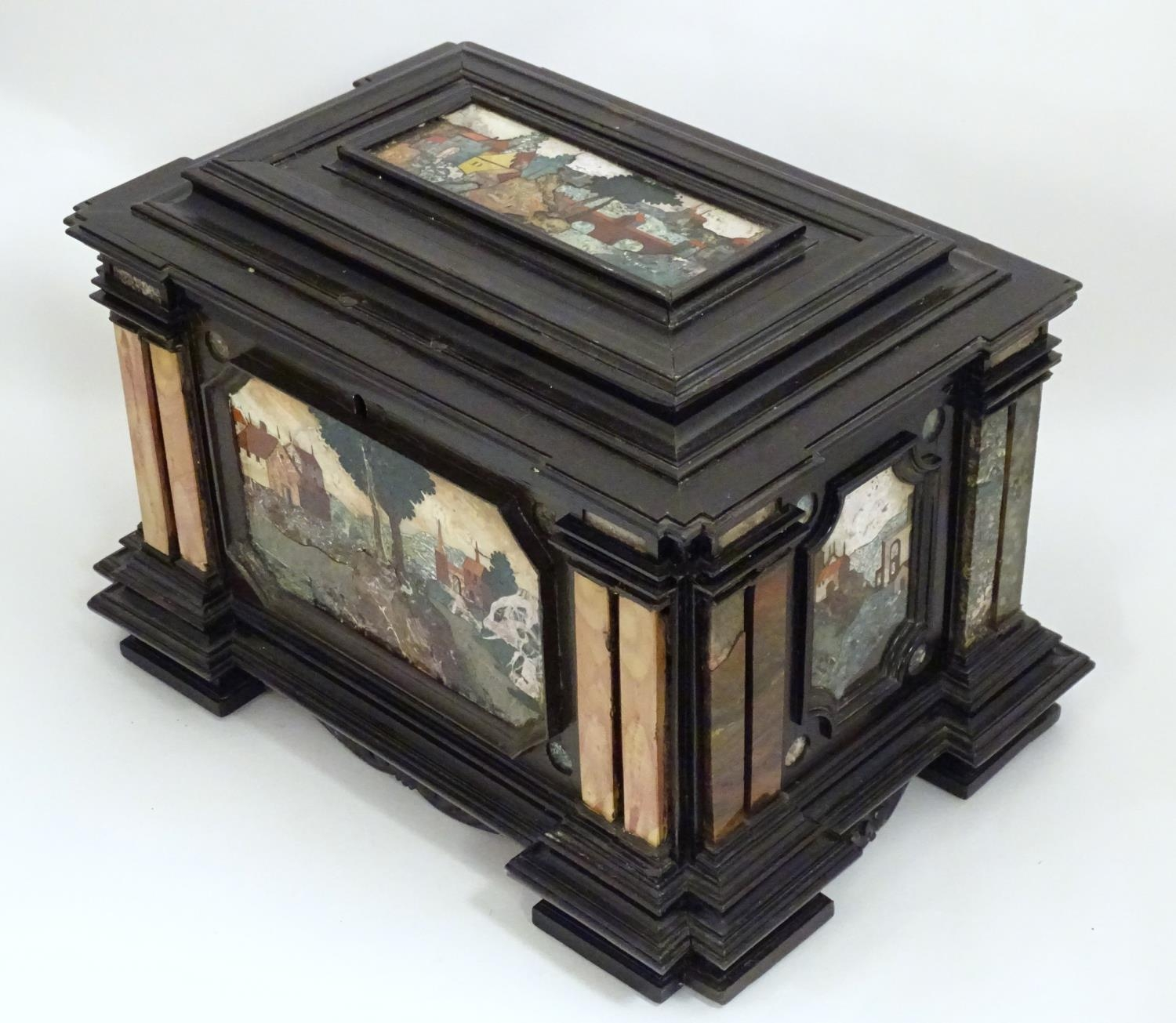 A 19thC Italian Grand Tour table cabinet / casket box of exceptionally large form with specimen - Image 27 of 58