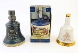 A c1980 Wade ceramic decanter of Bell's Royal Reserve 20 year old blended Scotch whisky 75cl,