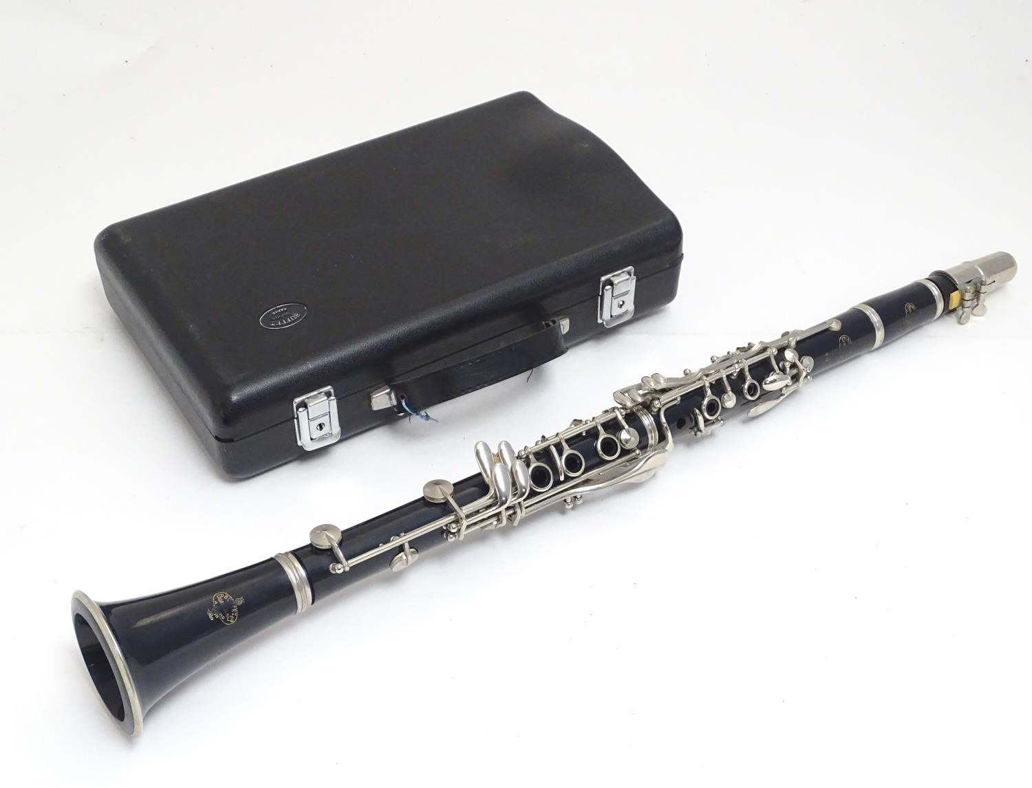 A mid to late 20thC Bb Clarinet by Buffet Crampon, Paris, model B12, stamped with maker's emblem and
