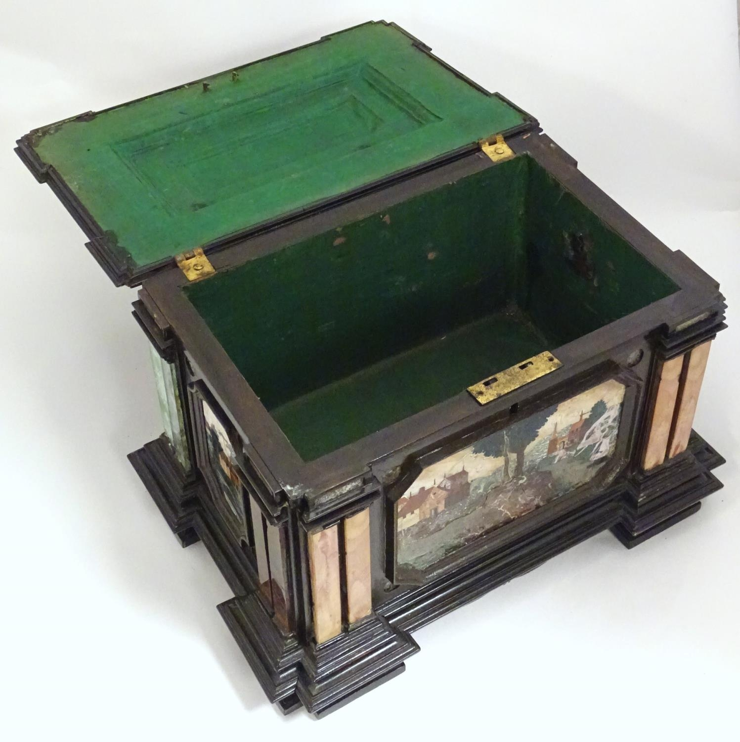 A 19thC Italian Grand Tour table cabinet / casket box of exceptionally large form with specimen - Image 50 of 58