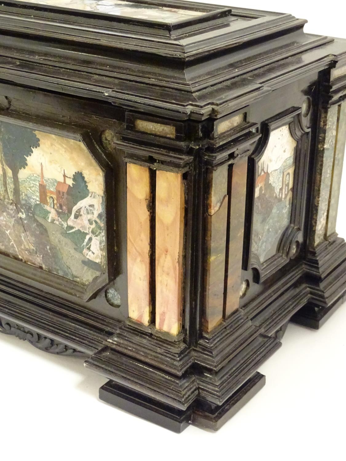 A 19thC Italian Grand Tour table cabinet / casket box of exceptionally large form with specimen - Image 57 of 58