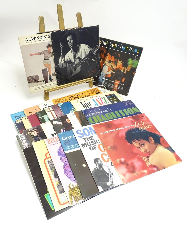 A collection of 20thC 33 rpm Vinyl records / LPs - Jazz, comprising: Bert Kaempfert: This is Bert