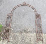 Garden & Architectural, Salvage: a late 19thC French wrought iron garden /gate arch, with