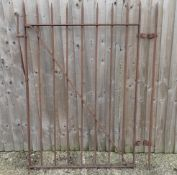 Garden & Architectural, Salvage: a 19thC blacksmith-made hand forged wrought iron gate with spear