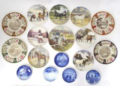 Large quantity of assorted collectors / cabinet commemorative plates by Coalport, Masons,
