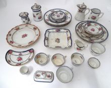 A quantity of Booths silicone china dinner wares decorated with fruit retailed by T. Goode & Sons,