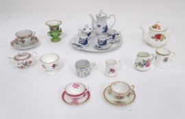 Quantity of assorted cabinet miniatures to include examples by Booths, Hammersley, Wedgwood,