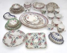 A quantity of assorted Booths china to include tureens, cups, jugs, plates, egg cups, serving