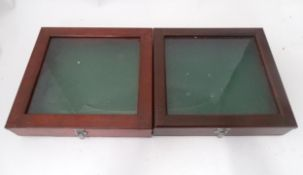 Two counter top glazed display cases (2) Please Note - we do not make reference to the condition