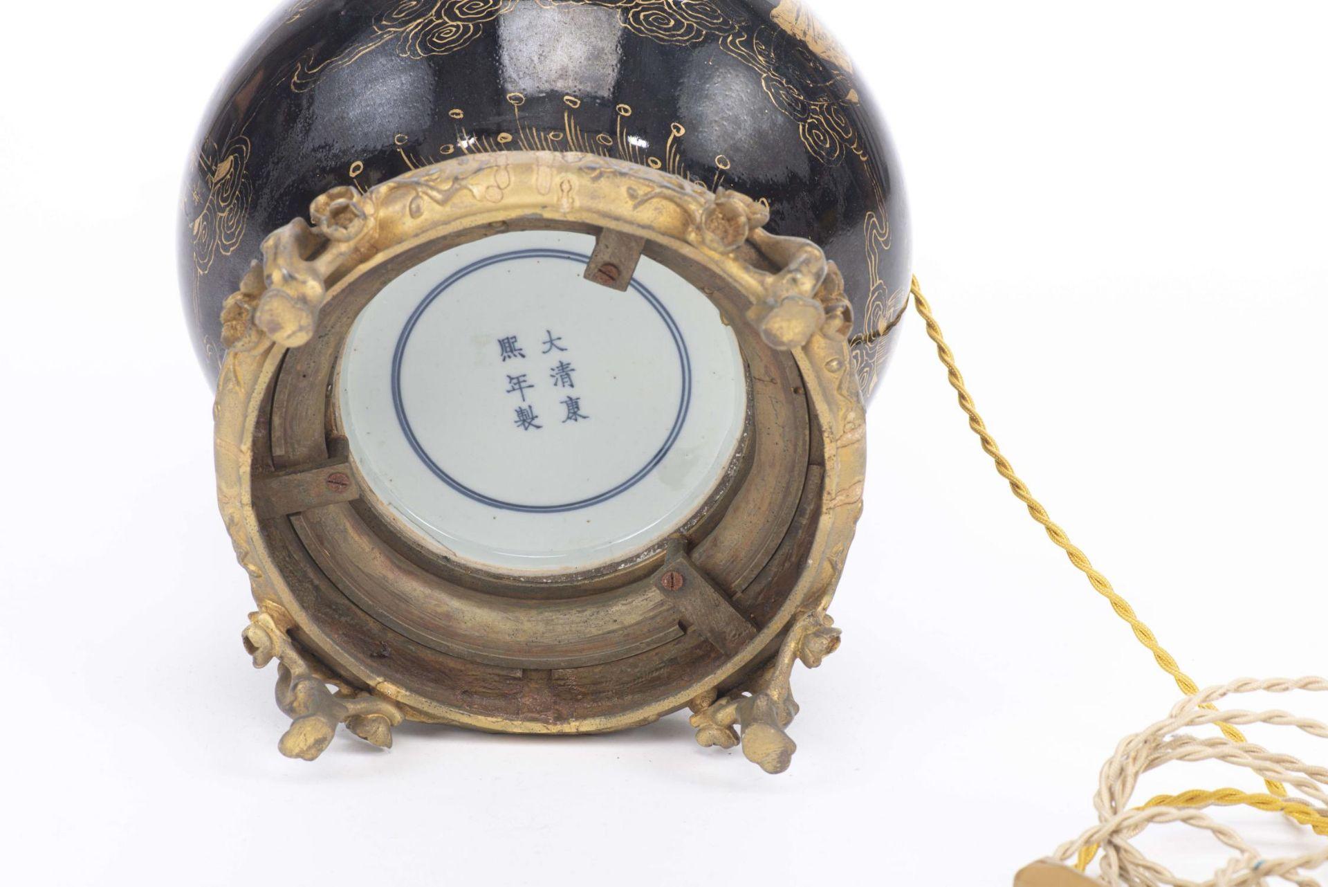 Lampe de table à pied en porcelaine de Chine - Image 7 of 20