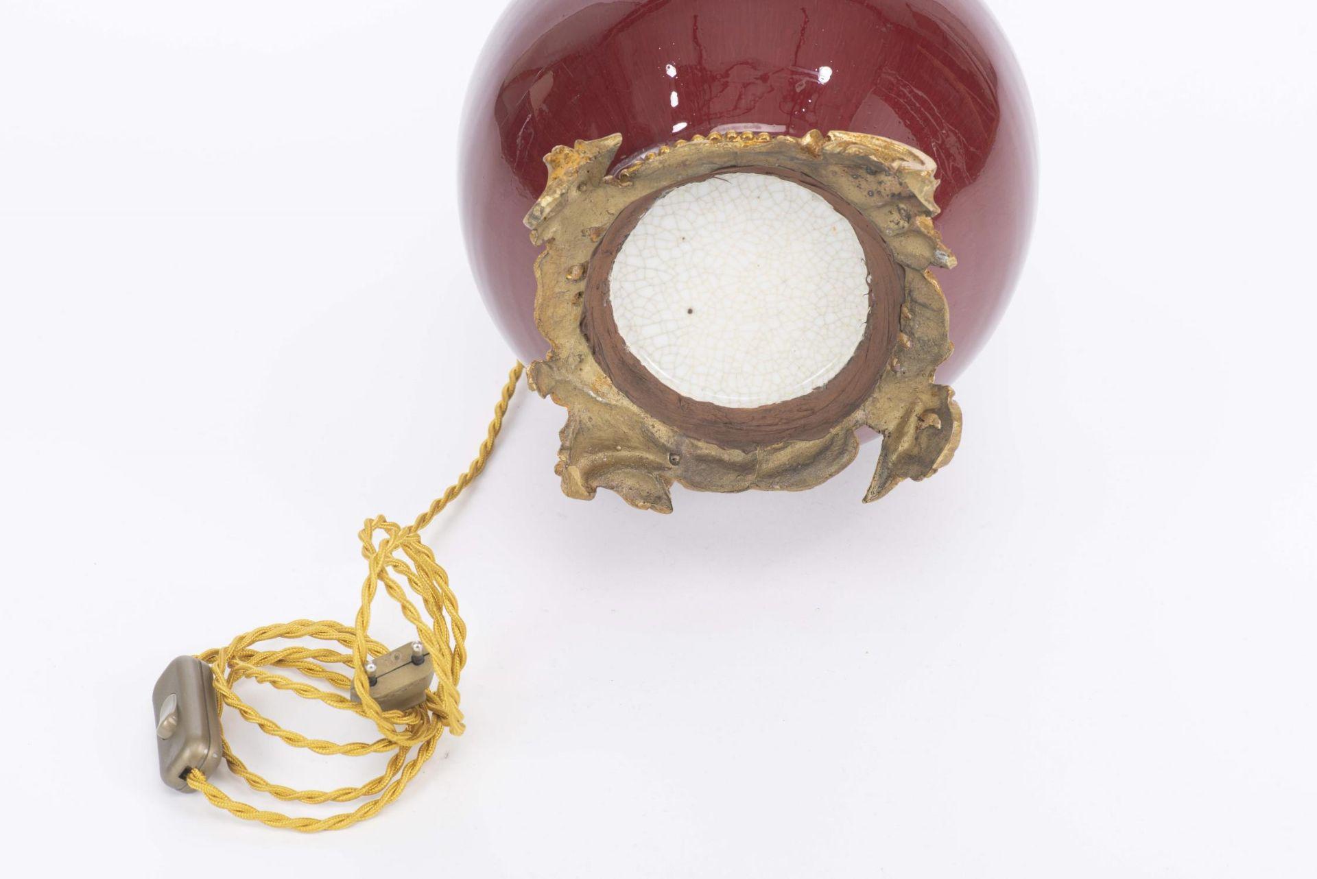 Lampe en porcelaine sang de boeuf, Chine, XIXe - Image 5 of 18