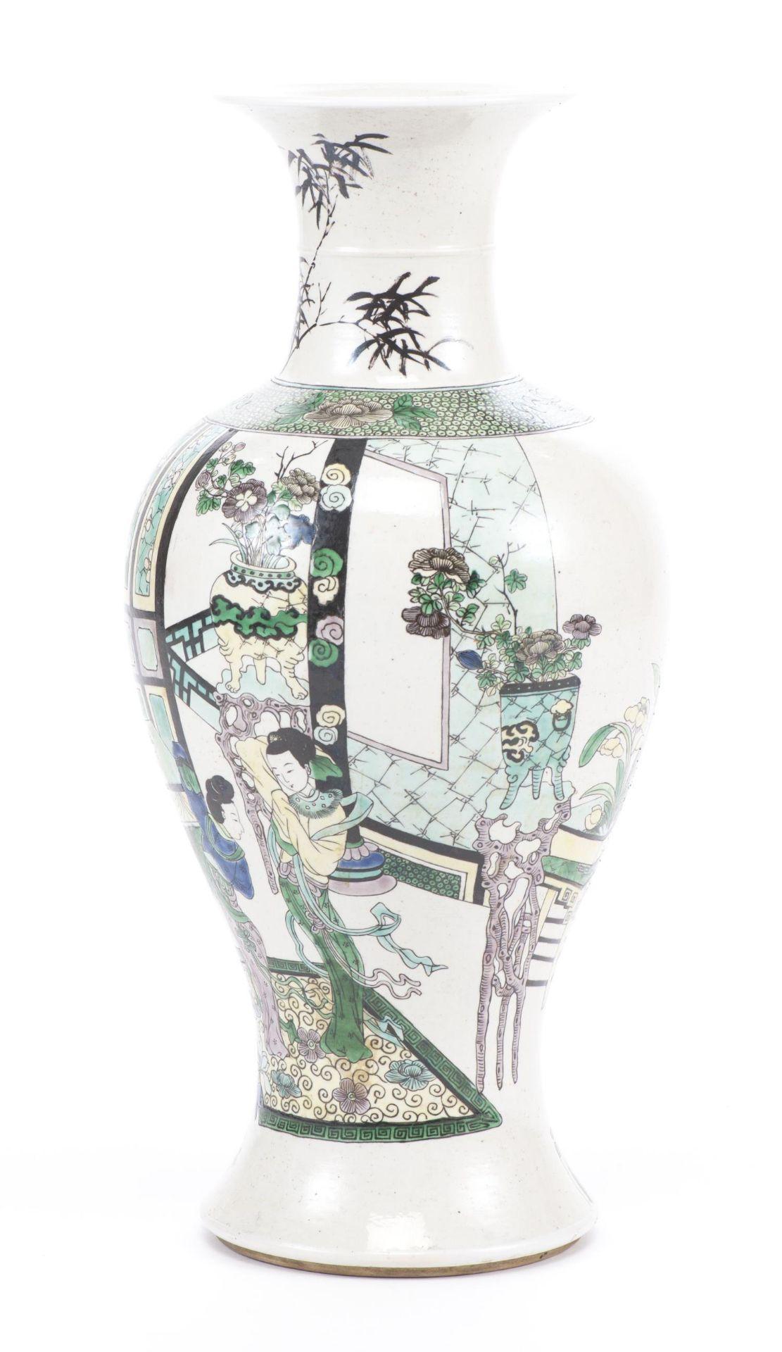 Vase Yenyen en biscuit de Chine, époque Qing - Bild 2 aus 12