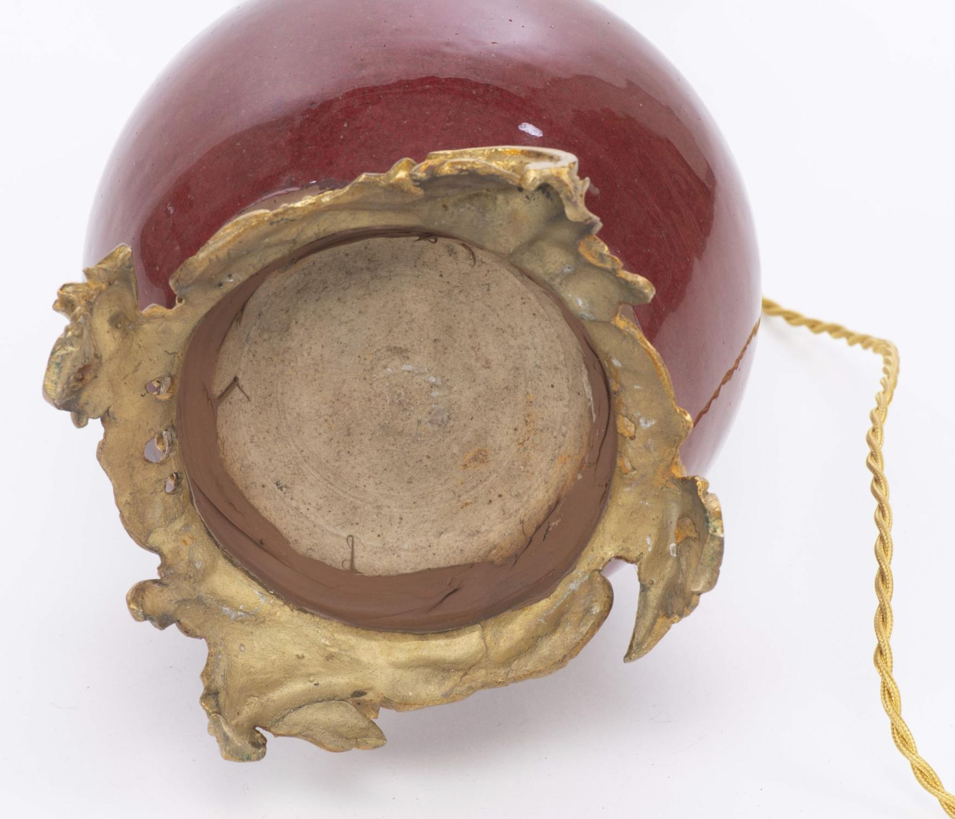 Lampe en porcelaine sang de boeuf, Chine, XIXe - Image 5 of 5