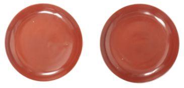Coupe corail et lèvre dorée en porcelaine de Chine, époque Qing, XIXe
