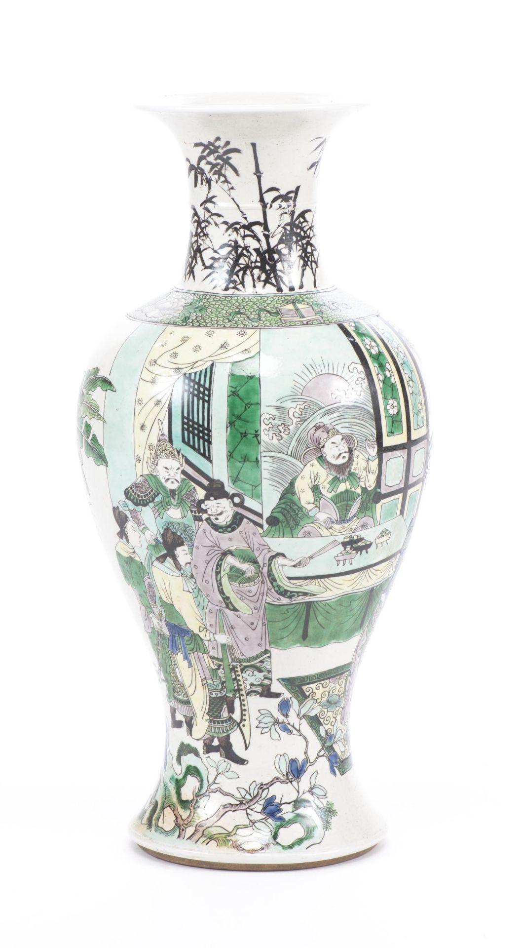 Vase Yenyen en biscuit de Chine, époque Qing - Bild 4 aus 12