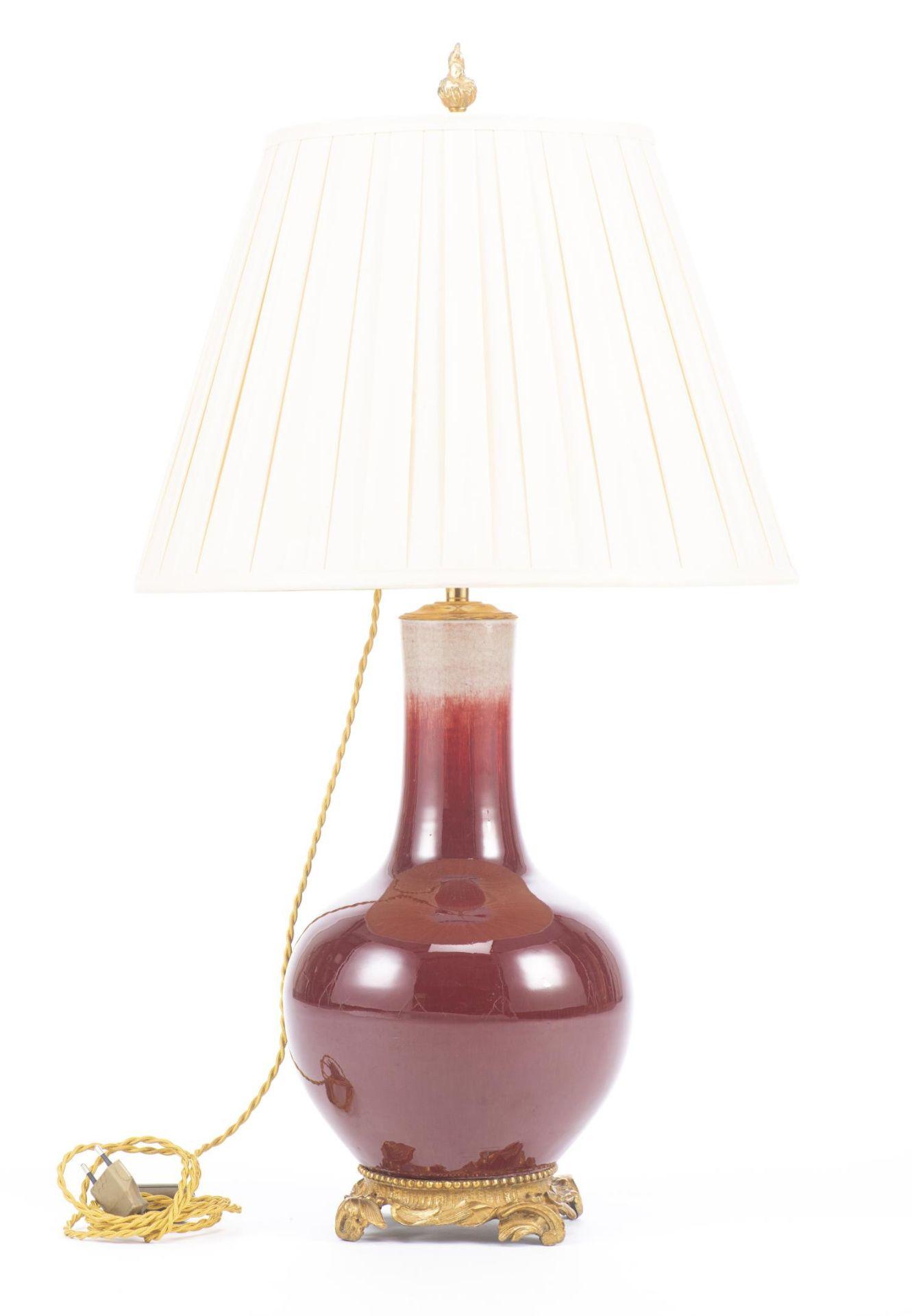 Lampe en porcelaine sang de boeuf, Chine, XIXe - Image 2 of 18