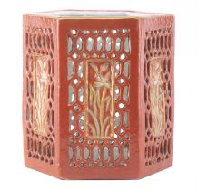Porte-pinceau en porcelaine de Chine, XIXe, marque en rouge Da Qing Tongzhi nianzhi