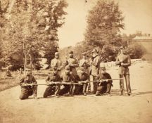 * American Civil War. Two albumen print photographs of Union Army soldiers, c.1861-5