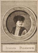 Russia. Le faux Pierre III. Ou la vie du rebelle Jemeljan Pugatschew, 1st edition, 1775