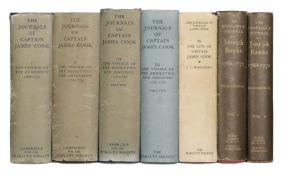 Cook (Captain James). Journals, 5 volumes, 1967-74