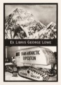 Lowe (George, 1924-2013). Collection of 40 mountaineering books ex libris George Lowe