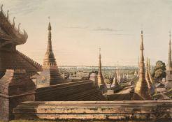 * Moore (Lieutenant Joseph). Nine plates from Views in Rangoon
