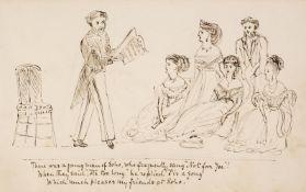 Manuscript. An illustrated book of limericks, circa 1865