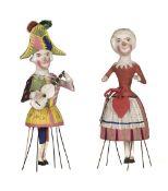 * Dolls. A pair of rare Docken dolls, Germany, mid 19th century