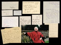 * Literary Autographs. A group of 28 literary autographs, mostly 20th century