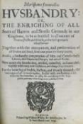 Markham (Gervase). Markhams farewell to Husbandry, 1649
