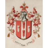 * Heraldry. Grant of arms of Joseph Griggs of Loughborough, 1889