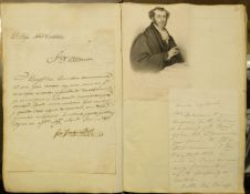 * British History. An album of 120 autograph items, 19th century