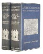 Priestley (Raymond E.). Antarctic Adventure, 2 copies, 1st editions, 1914