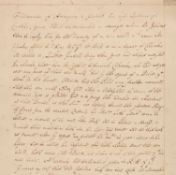 * West Indies. Manuscript application for funds for a voyage to West Indies, late 17th century
