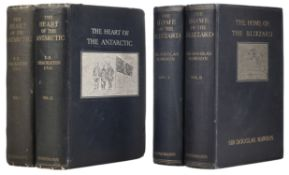Shackleton (Ernest H.) The Heart of the Antarctic, 2 volumes, 1st edition, 1909