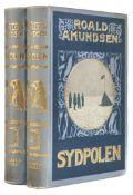 Amundsen (Roald). Sydpolen, 2 volumes, 1st edition, Oslo, 1912