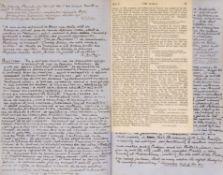 Hare (Augustus John Cuthbert, 1834-1903). A lengthy autograph manuscript ...