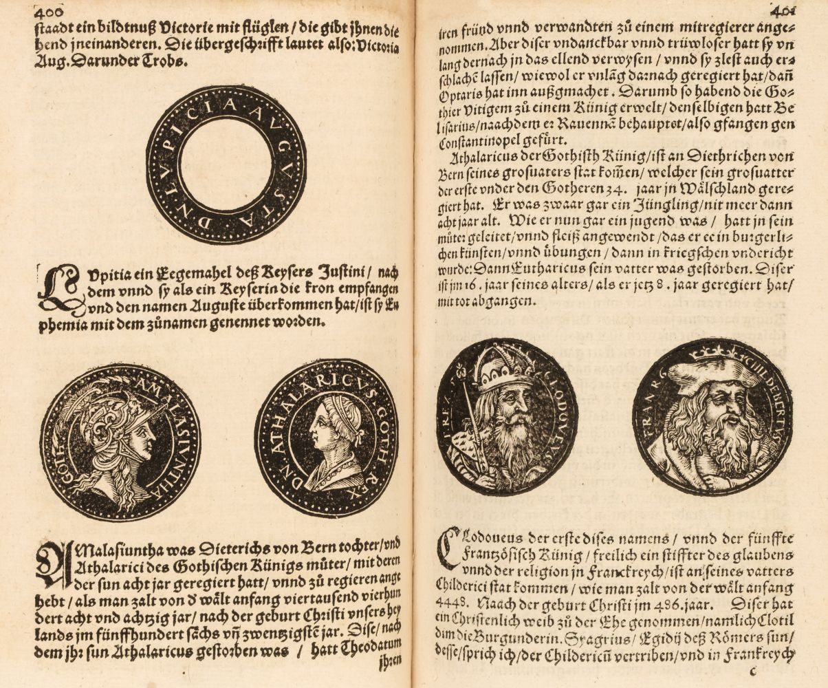 Strada (Jacobus de, c.1523-1588). Kunstliche und aigendtliche bildtnussen der Rhömischen..., 1558 - Image 2 of 3