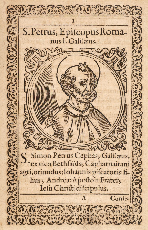 Megiser (Hieronymus). Icones & Vitae Paparum ..., 1602, and 4 others