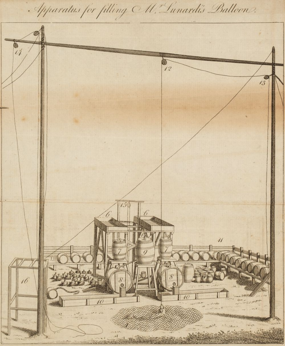 Lunardi (Vincenzo). An Account of the First Aerial Voyage in England, - Image 3 of 4