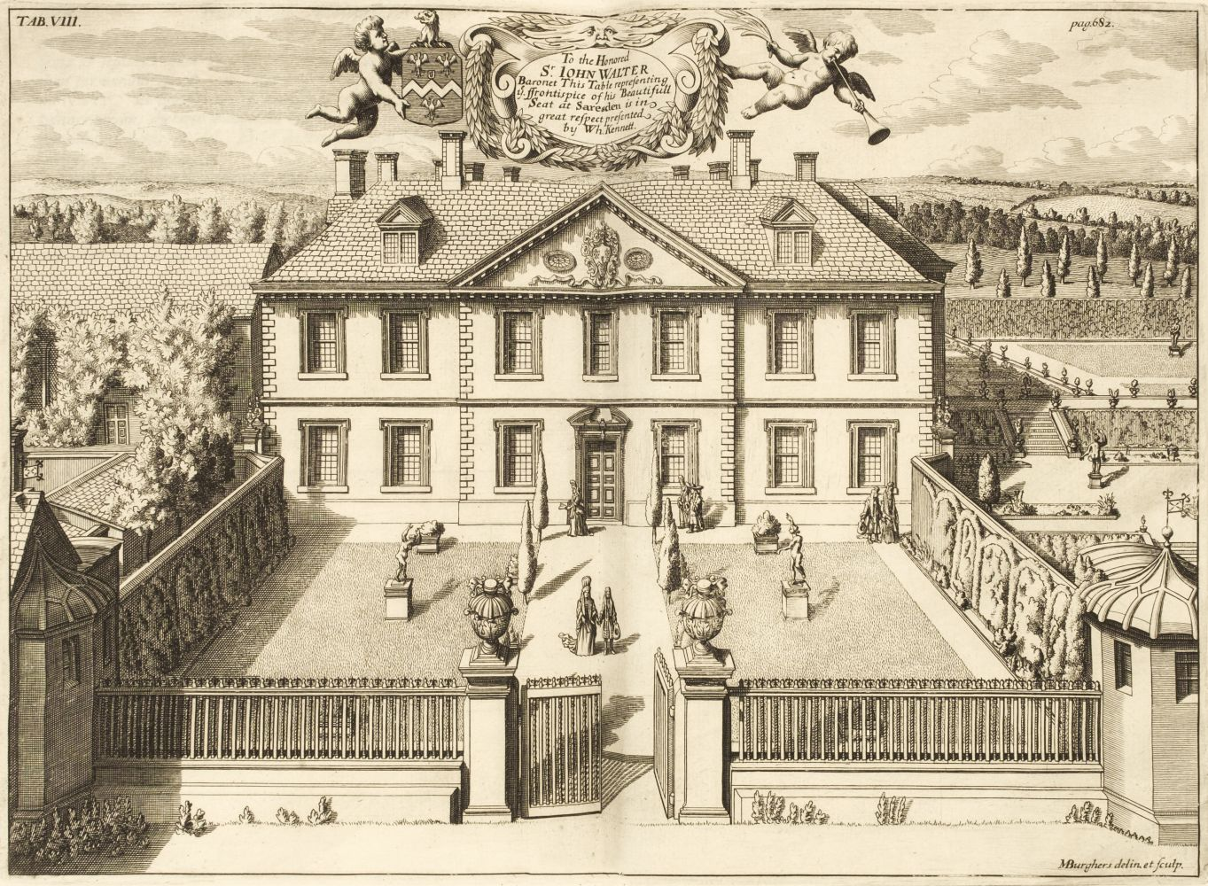 Kennett (White). Parochial Antiquities Attempted in the History of Ambrosden, Burcester..., 1695