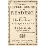 English Civil War. The third Intelligence from Reading, 1643