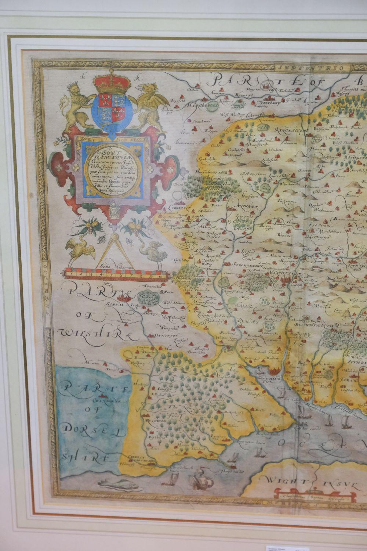 * Hampshire. Saxton (Christopher), Southhamtoniae comitatus..., circa 1579 - Image 3 of 5