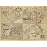 British Islands. Mercator G. & Hondius J.). Anglesey, Garnesay, Jarsay, Wight Vectis.., circa 1620