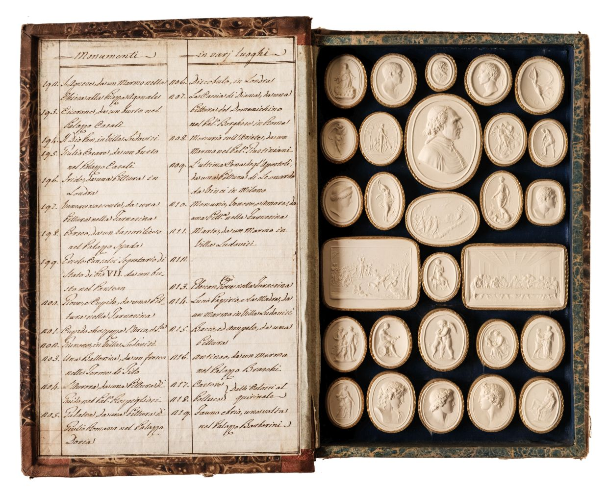 Paoletti (Bartolomeo and Pietro). A collection of 300 plaster cameos, 1820 - Image 4 of 16