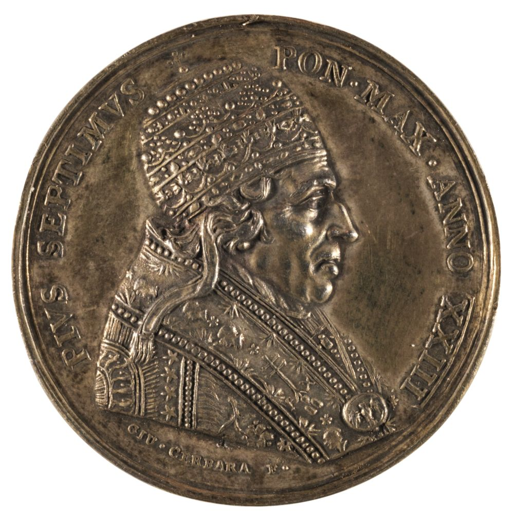 * Medal. Expansion of Vatican Museum, by Cerbara, 1822